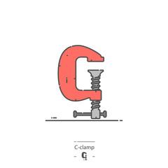 C-clamp - Line color icon