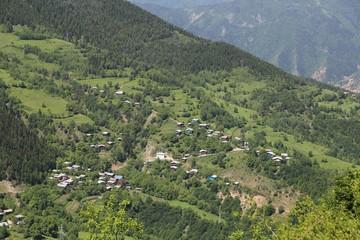 green village views. savsat/artvin/turkey