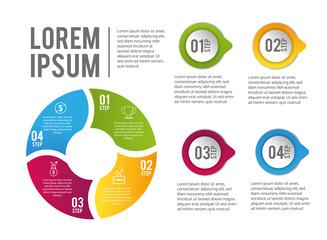 infographic data report with lorem ipsum