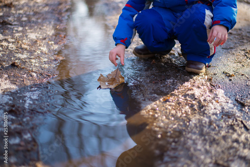 e59ecb085429 the boy lets last year s sheet in the creek like a ship