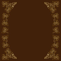 Decorative frame, frame for the text in color, grapes