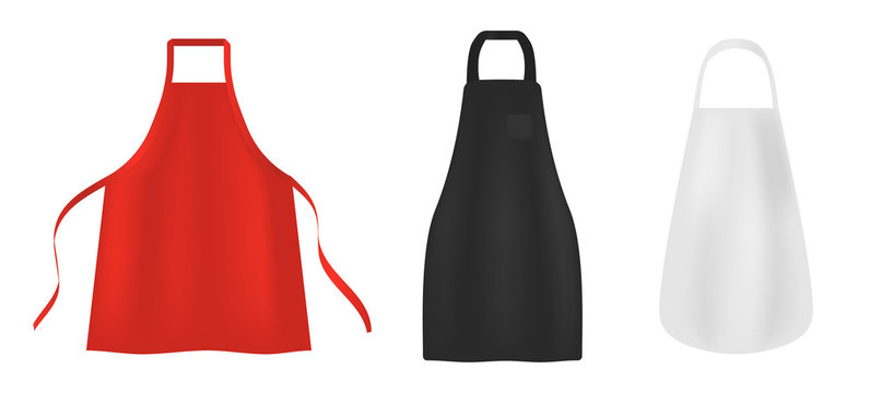 Apron icons set. Realistic set of apron vector icons for web design isolated on white background