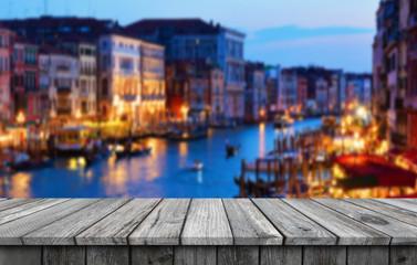 Foto op Plexiglas Amsterdam Empty wooden table background