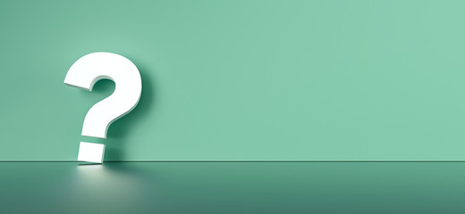 colored question mark background concept. 3D Rendering. Wall mural