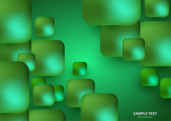 Modern trendy background of colored squares in the form of volumetric convex shapes. Bright colorful, luminous colors. .
