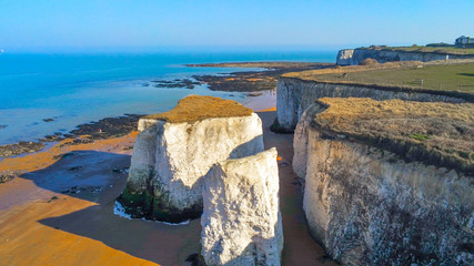 Aerial view over Botany Bay in Kent Wall mural