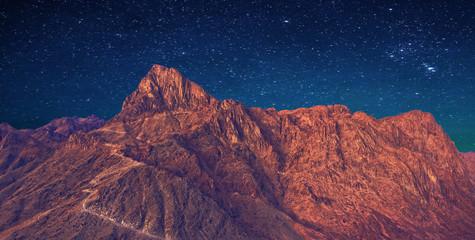 Fotobehang Bordeaux Mount Sinai, Mount Moses in Egypt. Africa