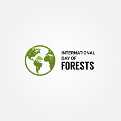 International Day Of Forests Vector Design Template