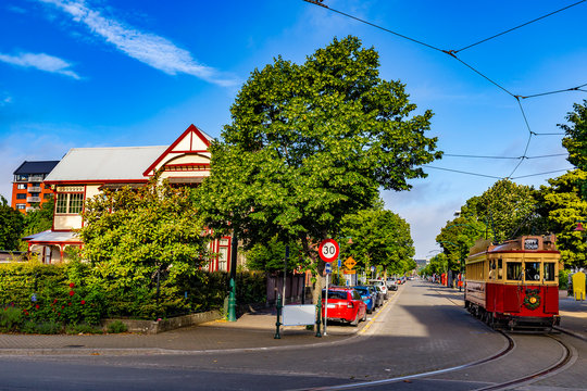 New Zealand, South Island. Christchurch, Canterbury Region. Worcester Boulevard