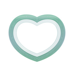 Green pastel color wood frame Heart shape isolated white background, Heart-shape frame for lover photo wedding and familly, Wooden picture frame Beautiful and chic, Heart shape photo frame blue pastel