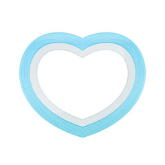 Blue pastel color wood frame Heart shape isolated white background, Heart-shape frame for lover photo wedding and familly, Wooden picture frame Beautiful and chic, Heart shape photo frame blue pastel