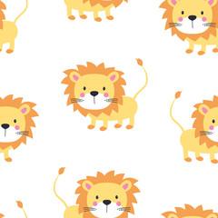lion seamless pattern