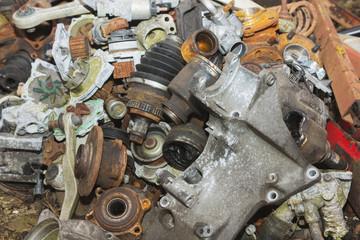 broken car spare parts