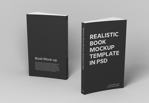Two Open Soft Cover Books Mockup