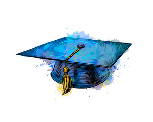 Obraz Graduation cap, square academic cap - fototapety do salonu