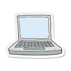 sticker of a cartoon laptop computer