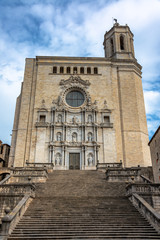 Girona Cathedral Vertical View