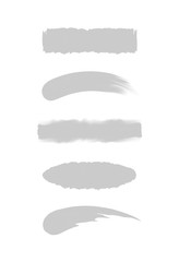set of grey stripe painted in watercolor isolated on white background, grey water color brush strokes set, illustration paint brush soft in concept watercolor paint, grey colors acrylic water color