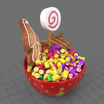 Sweets in bowl