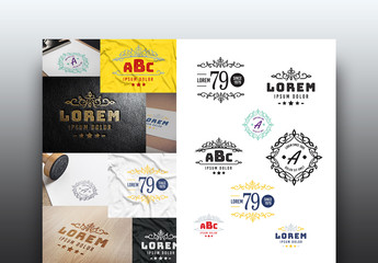 Decorative Logo Badges Layouts