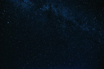 stars and the milky way background the blue starry sky