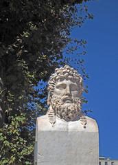 bust statue of Greek explorer Euthymenes of Massalia Marseille