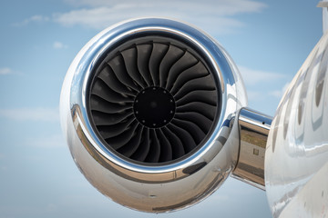 Jet turbine engine of a personal luxury jet aircraft