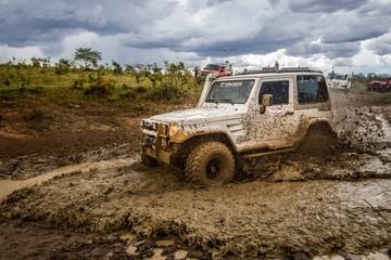 jeep on mud