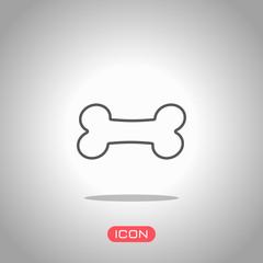 Dog bone icon. Icon under spotlight. Gray background