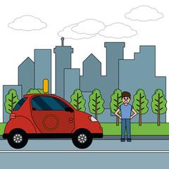 transport concept cartoon