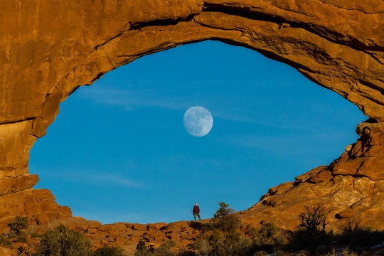 Moon rising thru North Window
