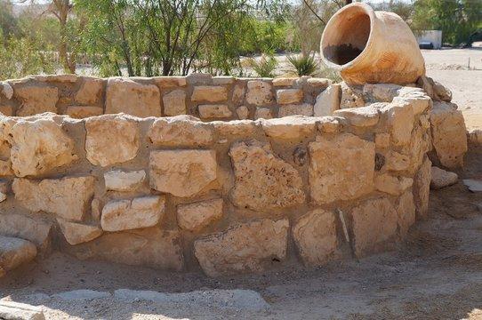 Biblical Tamar park, Arava, South Israel. Ancient well from Muslim period