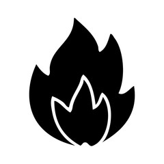 flat symbol fire