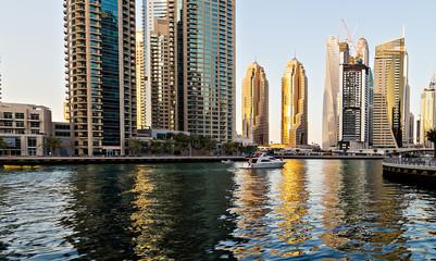 Buildings of Dubai Marina bay