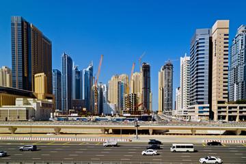 Skyscrapers Skyline view, Dubai, UAE