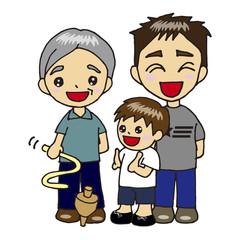 家族で駒遊び