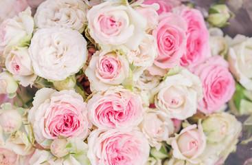 roses bouquet close up