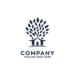 Tree Church Logo Design Template