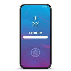 Mobile Phone Lock Screen With Geometric Wallpaper Vector Illustration