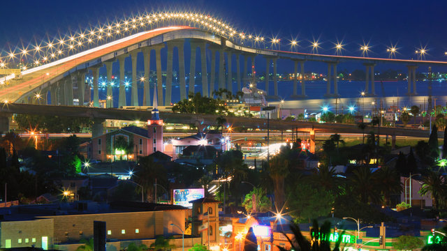 San Diego Coronado Bay Bridge from Grant Hill Park