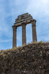 Italy, Rome, Roman Forum ruins