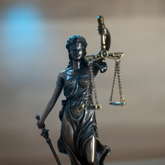 The Statue of Justice - lady justice or Iustitia / Justitia the Roman goddess of Justice