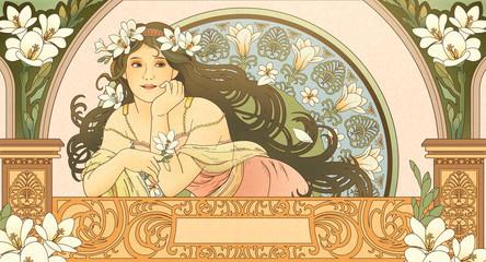 Mucha style goddess