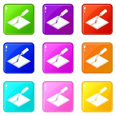 Welding torch icons set 9 color collection isolated on white for any design