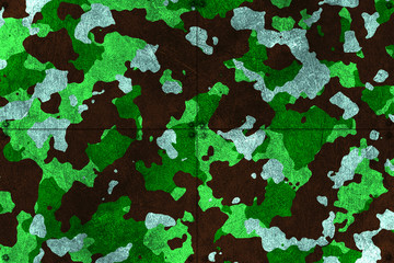green and black camouflage metal background