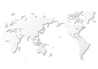 白色の背景と白いグラデーション世界地図