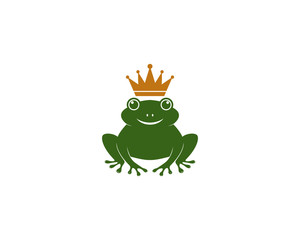 Frog Logo Template vector icon illustration design