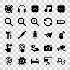 Icon set for your web ui design isolated