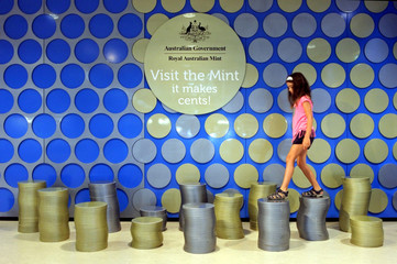 Tourist visit at the process building of the Royal Australian Mint Canberra Australia