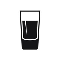 Shot glass icon isolated on white background.
